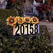 Solar Sunflowers House Number
