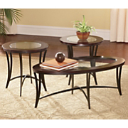 Set Of 3 Tables Oval And Round