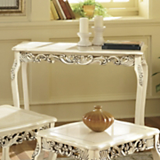 Carved Ivory Console Table