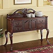 French Colonial Carved Buffet
