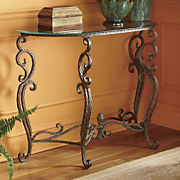 French Baroque Iron Console Table