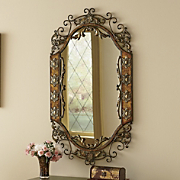 Ornate Metal Mirror