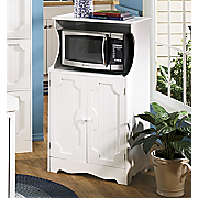 Microwave Cart White Country