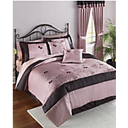 Brianna 8 Pc Embroidered Bed Set and Window Treatments