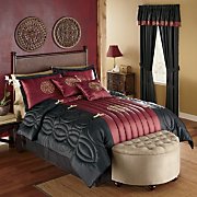 Kira Bristol And Shanghai Embroidered 6 Piece and 8 Piece Bedding Sets and Window Treatments
