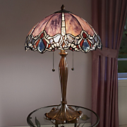 Elegant Stained Glass Globe Lamp