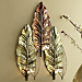 Palm Coast Metal Leaf Candleholder