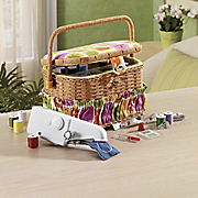 Sewing Basket 100 Pc Supply Kit