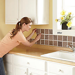 Medallion Self Stick Backsplash Tiles