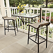 3 pc balcony rail bistro set