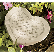 Heart Shape Gone Not Forgotten Memorial Stone