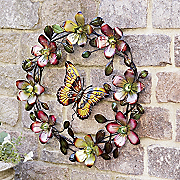 brilliant butterfly wreath