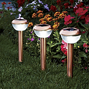 set of 3 coppertone solar lights 6