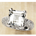 White Topaz Square Ring