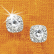White Topaz Pave Earrings