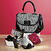 Zebra Handbag and Slide By Freshica