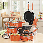 14 piece Porcelain Enamel Cookware Set By Rachael Ray
