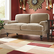 Loveseat Velvet With Spring Cushioning