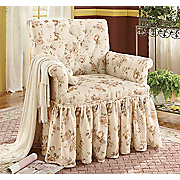 Skirted Rebecca Floral Chair