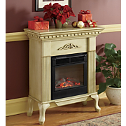 Electric Fireplace Ivory Queen Anne