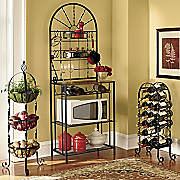 Twist Wine Rack Three tier Basket Rack And Bakers Rack