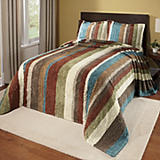 Bedspread Striped Cotton Chenille