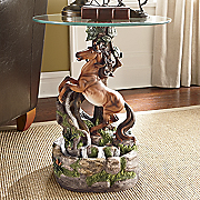Fountain Table Wild and Free Stallion