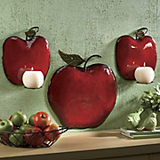 3 pc Apple Sconce Set