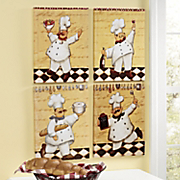 Set Of 4 Chef Peppino Wall Art
