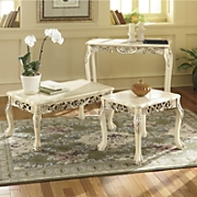 Hand carved Baroque genuine Marble Top Tables