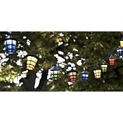 set of 20 multi colored solar lanterns