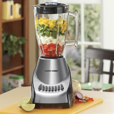 Black and Decker Blender 12 Speed Brushed Chrome