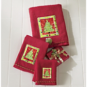 Bright Holiday Tree 3 Pc Towel Set