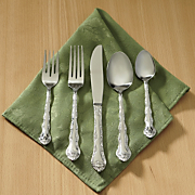 Flatware , 45-Piece Rose Cascade Set with Personalized Chest