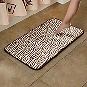 animal print memory foam bath mat