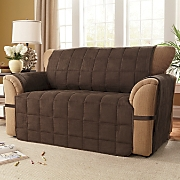 Box quilted Faux Suede Ultimate Furniture Protectors