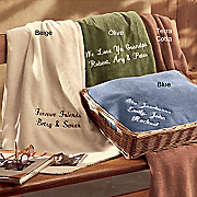Personalized Microfiber Throw With Basket