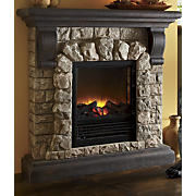 Fireplace Electric Faux Stone