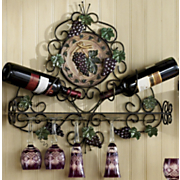 Vineyard Wall Wine and Stemware Holder