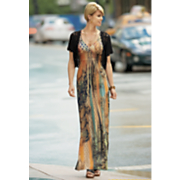 snakeskins maxi dress