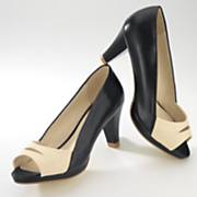 Pump By Monroe And Main Two Tone Peep Toe