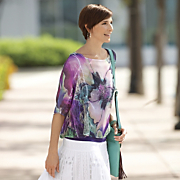 lace chiffon sublimation top