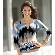cool blue ikat sweater