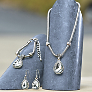 crystal teardrop jewelry