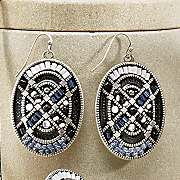 mosaic bead earrings