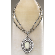 vintage silvertone necklace