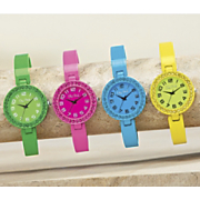 colorful hinged cuff watch