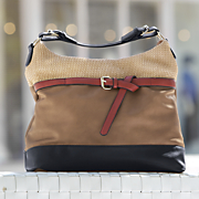 colorblock belted hobo