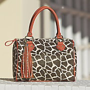 giraffe metallic bag
