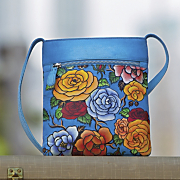 roses hand painted bag